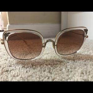 Coach pink oversized sunglasses
